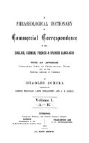A Phraseological Dictionary of Commercial Correspondence in the English  German  French   Spanish Languages