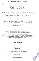 The Prologue The Knightes Tale The Nonne Prestes Tale From The Canterbury Tales