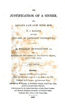 The justification of a sinner, and Satan's law-suit with him, in a dialogue
