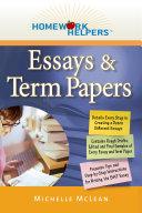 Homework Helpers: Essays & Term Papers