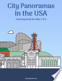 City Panoramas in the USA Coloring Book for Kids 1   2