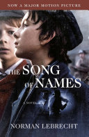 The Song of Names  Movie Tie In Edition