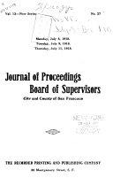 Journal Of Proceedings Board Of Supervisors