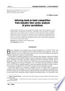 Inferring bank to bank competition from dynamic time series analysis of price correlations