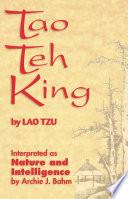 Tao Teh King Book