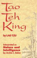 Tao Teh King Pdf/ePub eBook