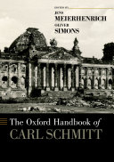 The Oxford Handbook of Carl Schmitt - Seite xvii