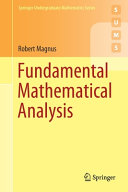 Fundamental Mathematical Analysis Book