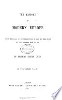 The History of Modern Europe
