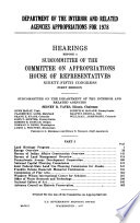 Department of the Interior and Related Agencies Appropriations for 1978  No distinctive title