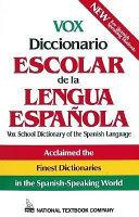 Vox Diccionario Escolar De La Lengua Espa  ola