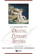 Pdf A Companion to Digital Literary Studies Telecharger