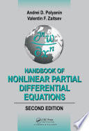 Handbook of Nonlinear Partial Differential Equations  Second Edition Book