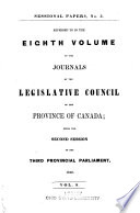 Appendix to ... Journals of the Legislative Assembly of the Province of Canada ...