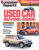 Consumer Reports Used Car Buying Guide 2003