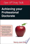 Achieving Your Professional Doctorate