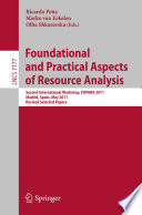 Foundational And Practical Aspects Of Resource Analysis Book PDF