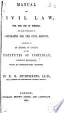 Manual of Civil Law