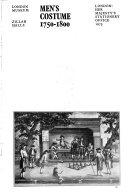 Men s Costume  1750 1800 Book