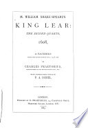 M  William Shake speare s King Lear Book