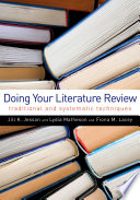 Doing Your Literature Review Book