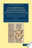 Polychronicon Ranulphi Higden  Monachi Cestrensis