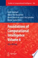 Foundations Of Computational Intelligence