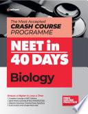 40 Days Crash Course for NEET Biology Book