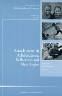 Attachment in Adolescence  Reflections and New Angles