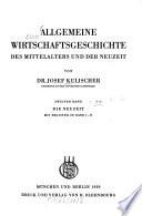 Allgemeine Wirtschaftsgeschichte des Mittelalters und der Neuzeit
