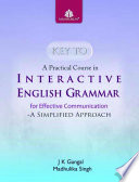 Key to A Practical Course in Interactive English Grammar 9-10
