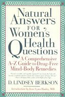 Natural Answers for Women s Health Questions