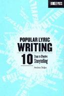 Popular Lyric Writing Book PDF