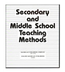 Secondary and Middle School Teaching Methods Book