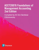 Cover of Foundations of Management Accounting ACCT20076 (Custom Edition)