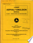 A Basic asphalt emulsion manual
