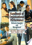 Handbook of Organizational Performance