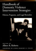 Pdf Handbook of Domestic Violence Intervention Strategies Telecharger