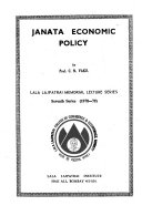Janata Economic Policy