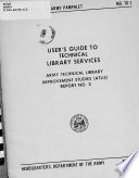 User S Guide To Technical Library Services