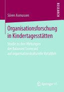 Organisationsforschung in Kindertagesstätten