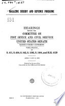 Magazine Subsidy And Revenue Foregone Hearings Before 93 1 April 2 And 3 1973