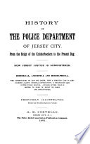History of the Police Department of Jersey City Book