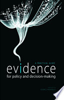 Cover of Evidence for Policy and Decision-making