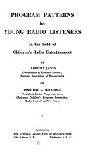 Program Patterns for Young Radio Listeners in the Field of Children s Radio Entertainment