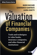 The Valuation of Financial Companies