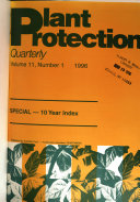Plant Protection Quarterly