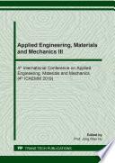 Applied Engineering  Materials and Mechanics III