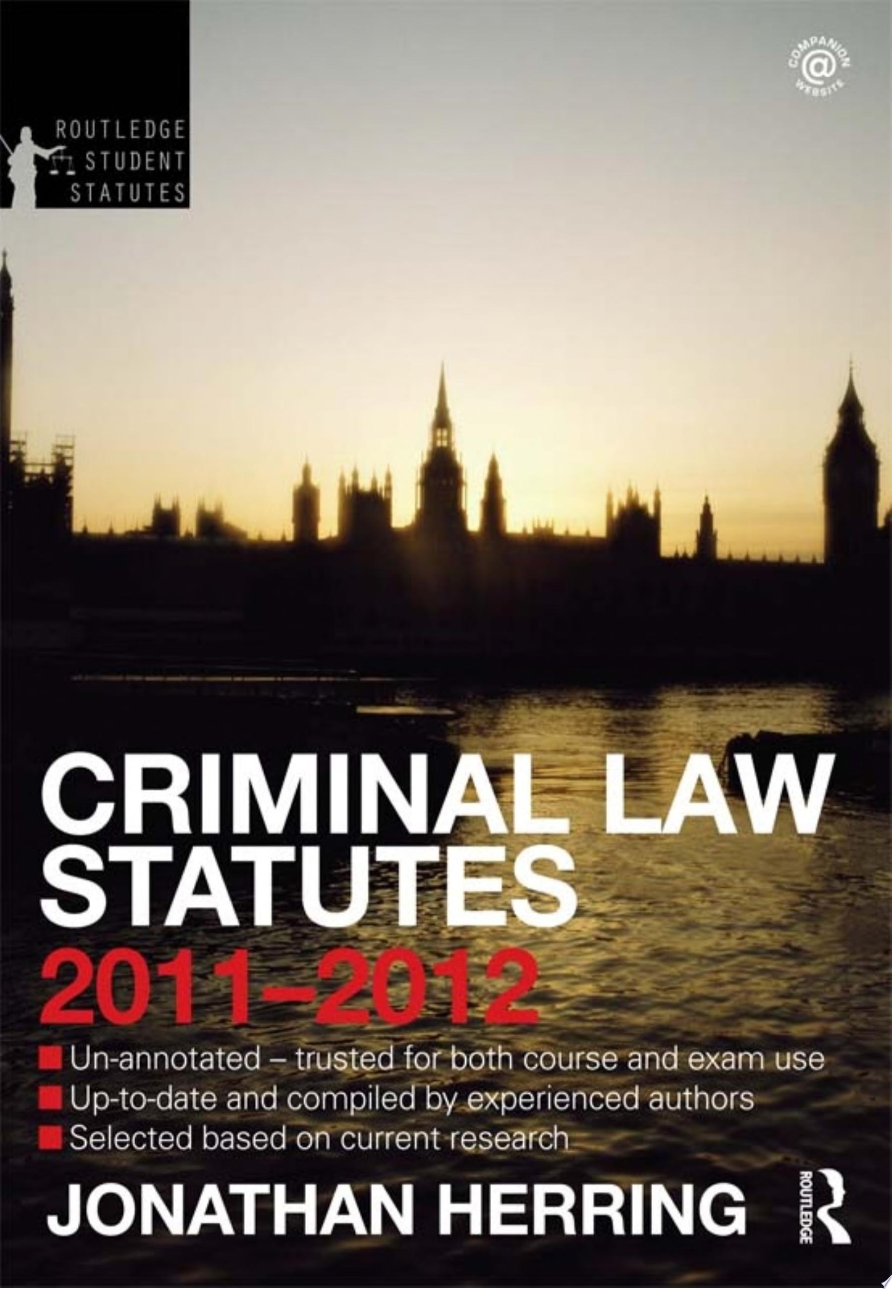 Criminal Law Statutes 2011 2012