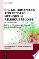 Digital Humanities And Research Methods In Religious Studies
